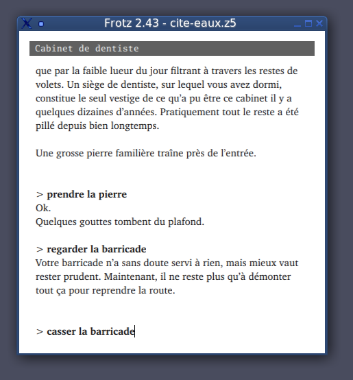 Exemple de fiction interactive