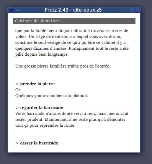 Exemple de fiction interactive