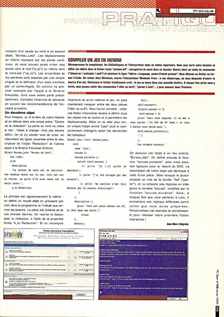 Page 88 du PC Team 108