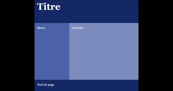 Mise en page réalisée avec une grille CSS.