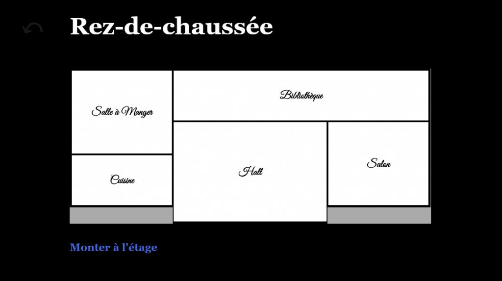 Rez-de-chaussée du plan réalisé avec une grille CSS.
