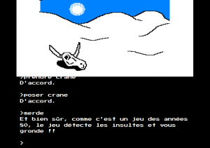 Capture d'écran du jeu terminé.