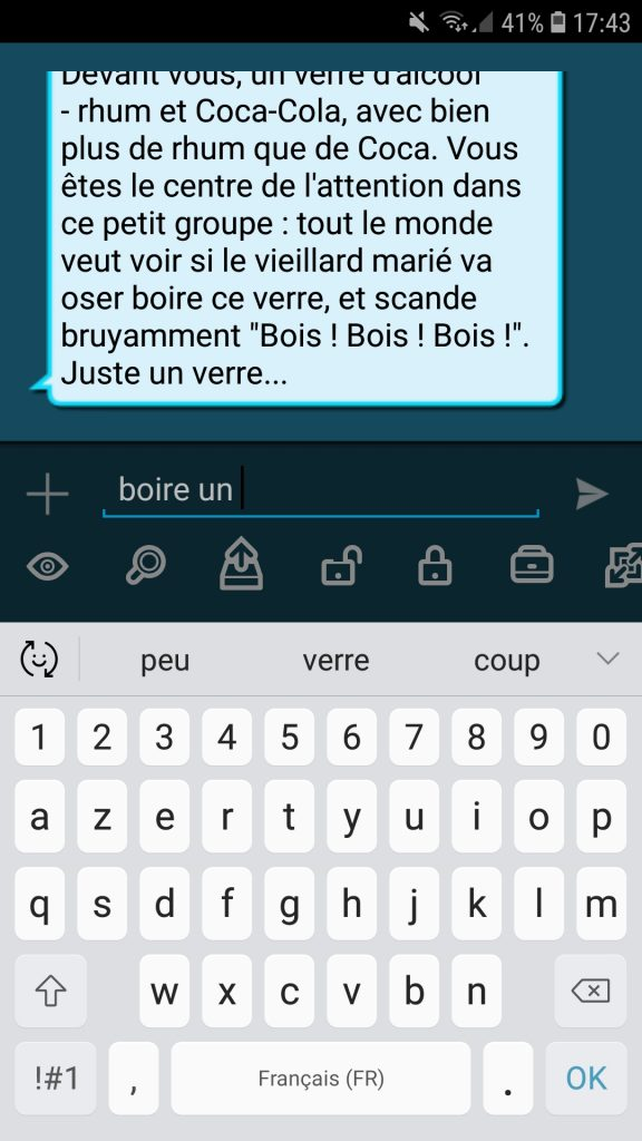 Capture d'écran de Text Fiction.