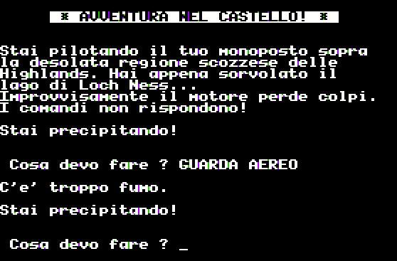 Capture d'écran d'Avventura nel castello.