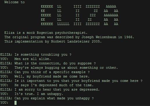 Capture d'écran d'Eliza.