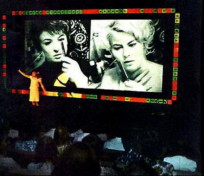 L'écran de Kinoautomat en 1967