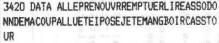 Scan de la ligne de code listant les actions.
