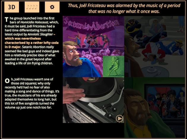 Capture d'écran de la traduction anglaise du Réprobateur.